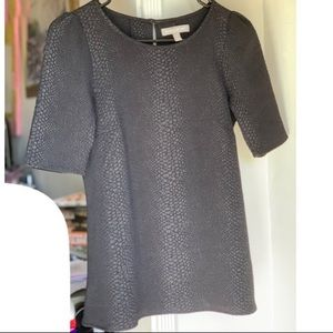 BANANA REPUBLIC: Black Blouse with Snake print